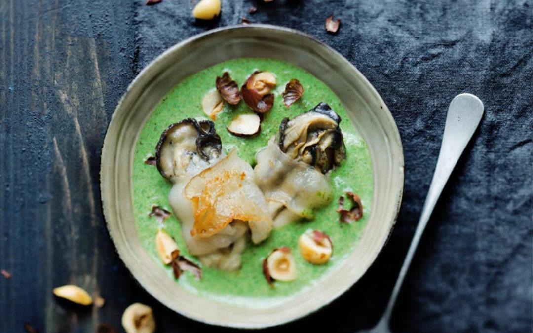 Huîtres grillées au lard de colonnata…